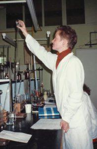 Zajęcia z chemii.